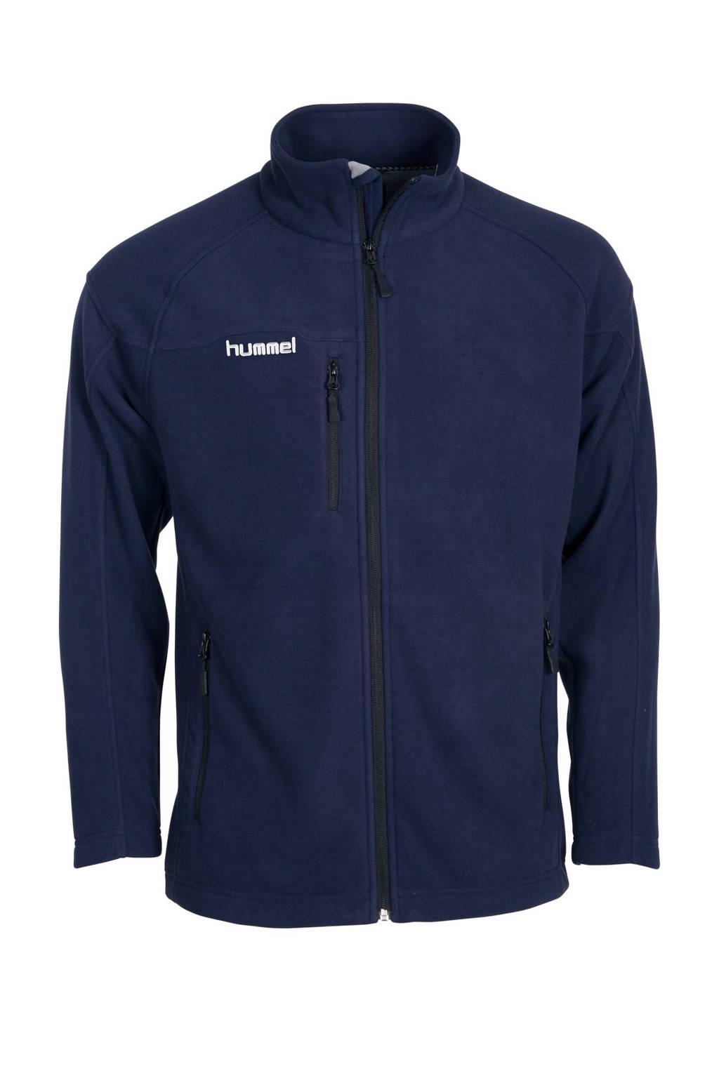 hummel   fleece vest, Donkerblauw