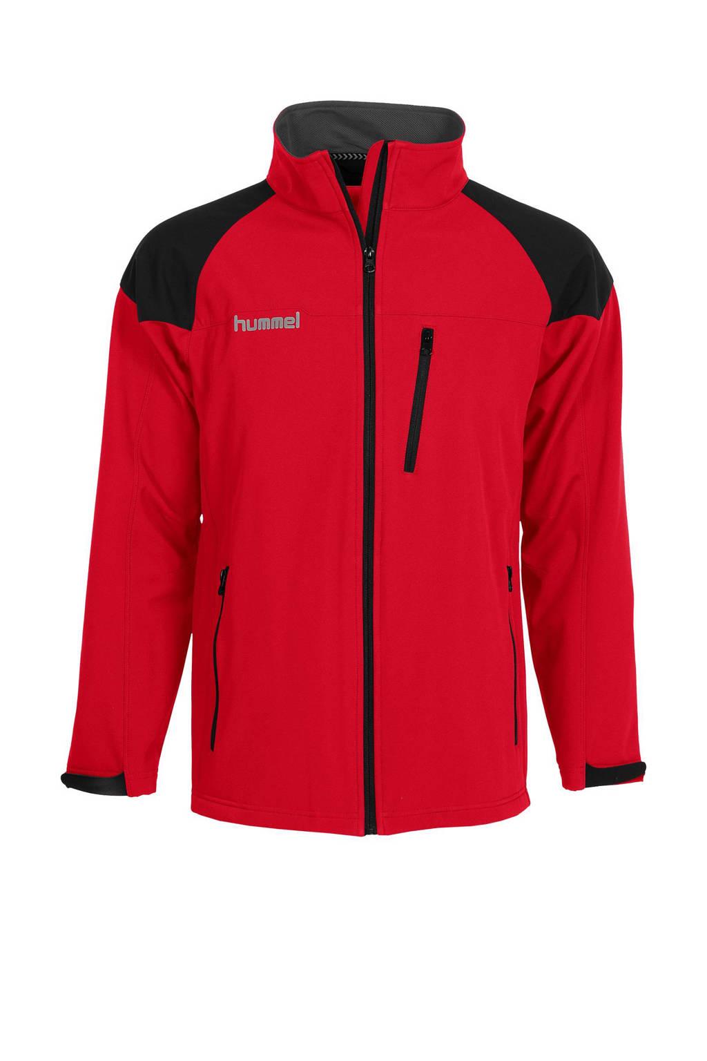 hummel   sportjack, Rood/zwart