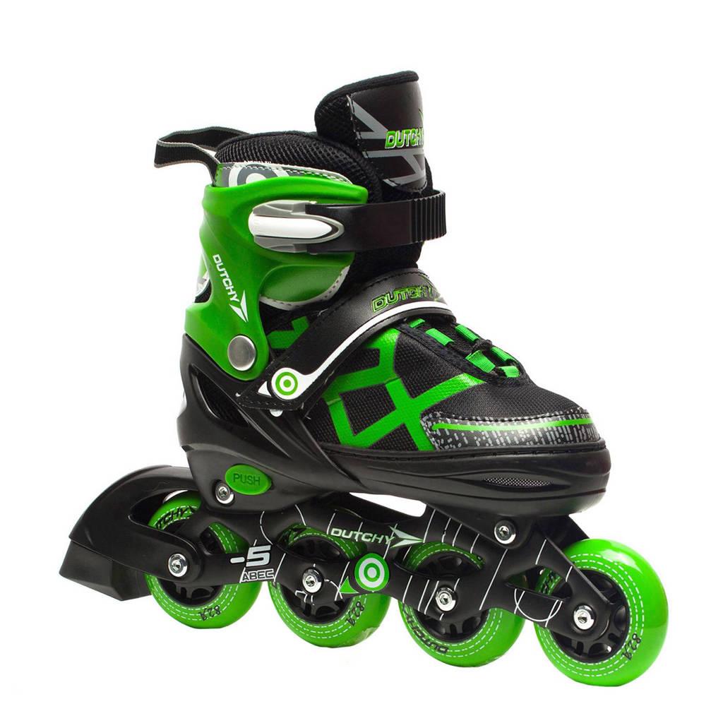 Scapino Dutchy verstelbare inline skates, Groen/zwart