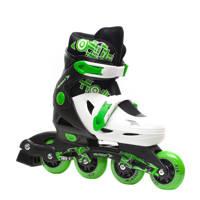 Scapino Dutchy verstelbare inline skates, Wit/groen