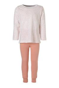 NAME IT MINI pyjama, Wit/zalmroze