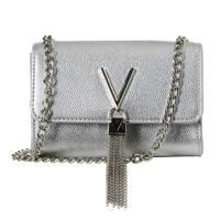 Valentino  metallic clutch Divina, Zilver