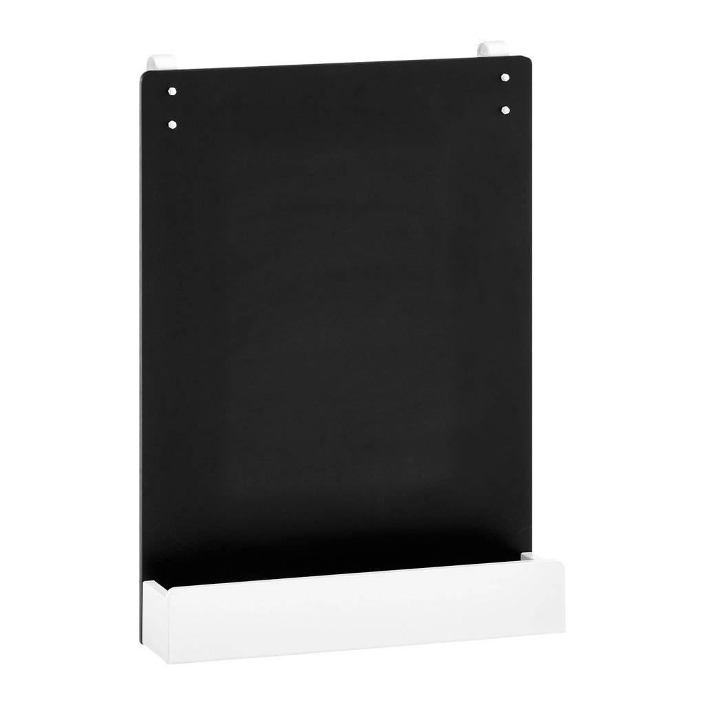 Flexworld krijtbord met houder, Zwart/wit