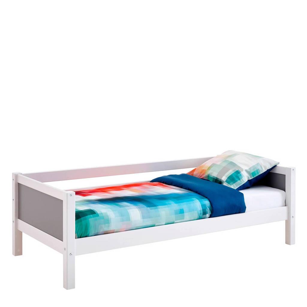 Flexworld bedbank Jip (90x200 cm), Wit/antraciet