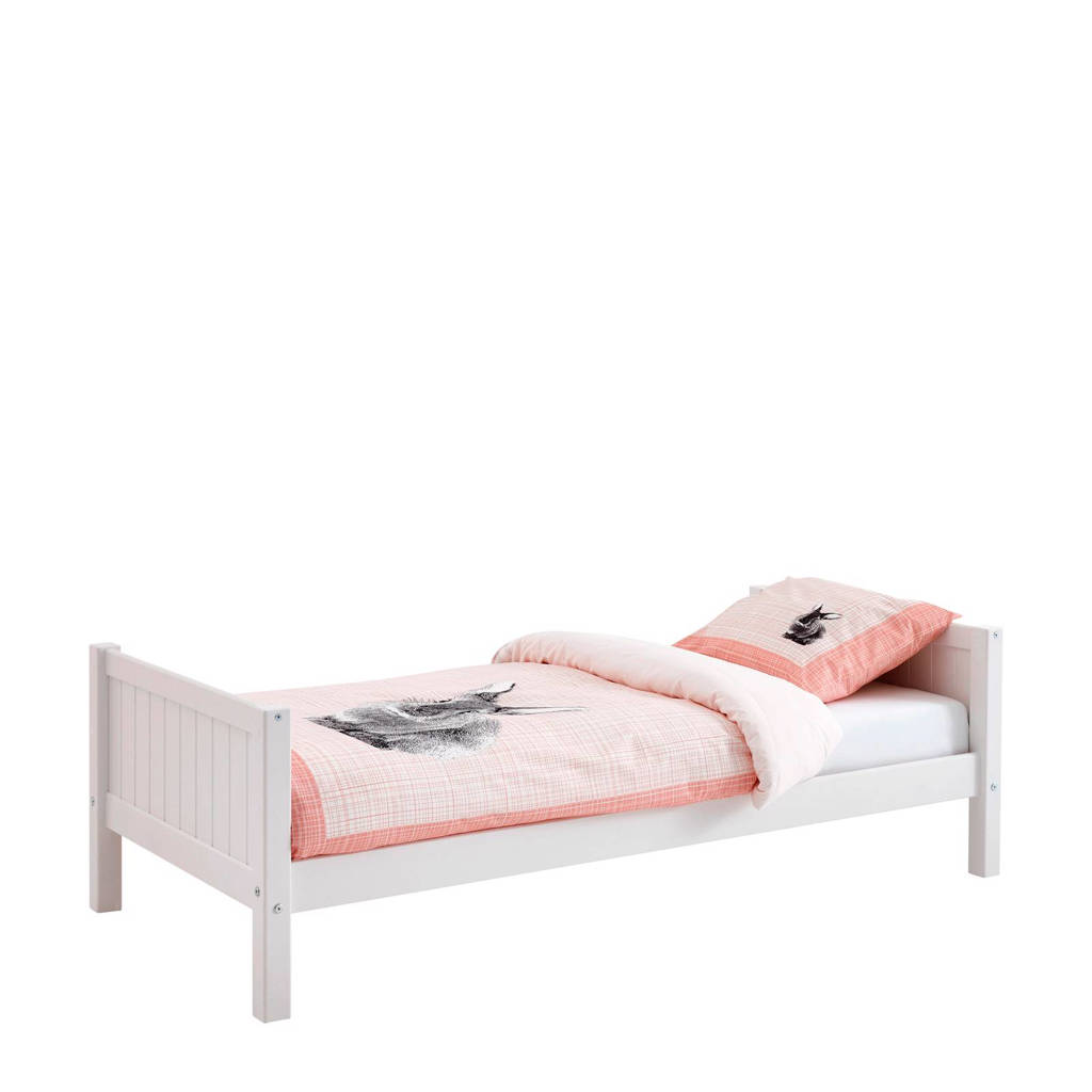 Flexworld bed Puck (90x200 cm), Wit/roze