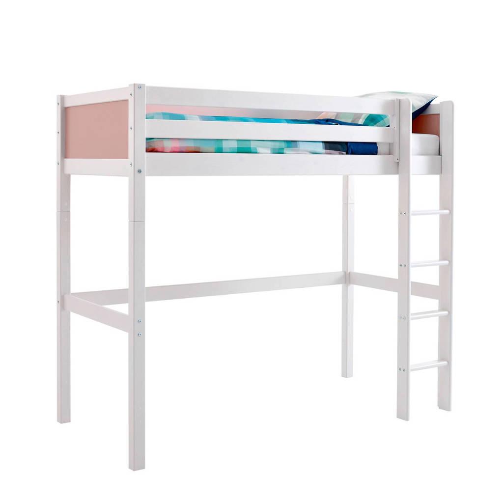 Flexworld hoogslaper Jip (90x200 cm), Wit/roze