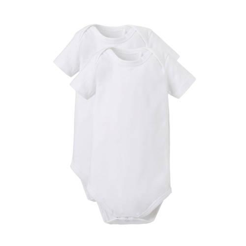 Dirkje newborn baby romper - set van 2 wit