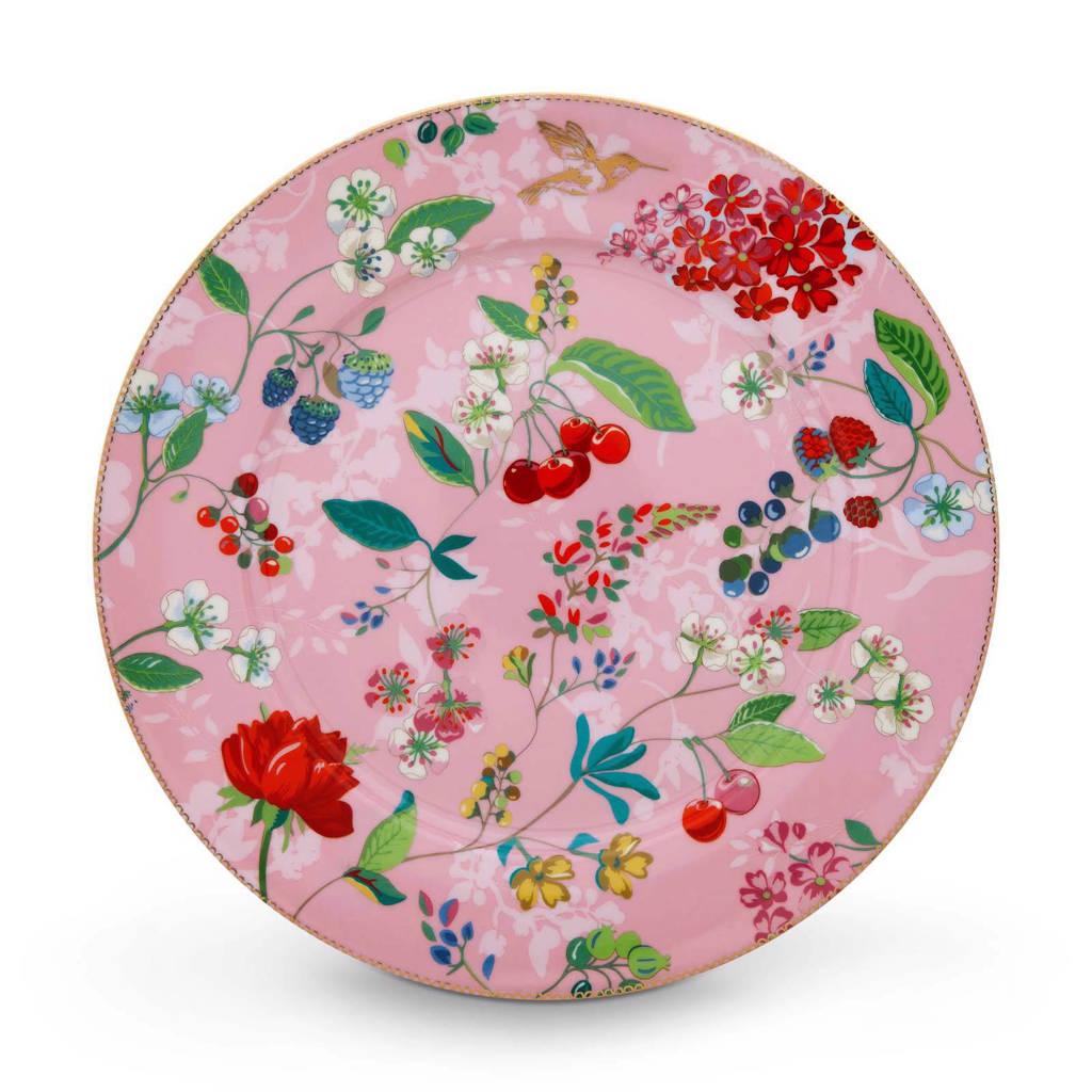 Pip Studio Floral onderbord (Ø32 cm), Roze