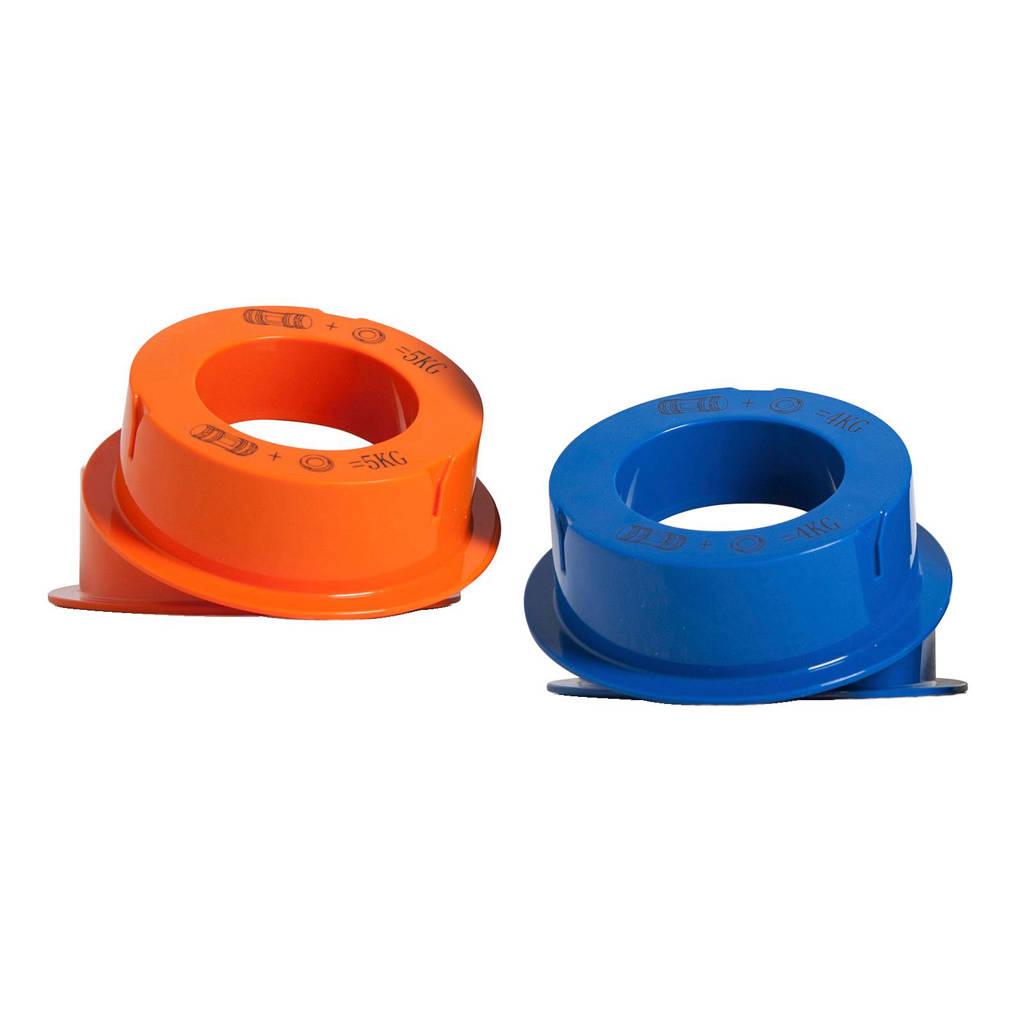 gewichten voor K-Fit trainer, blauw-oranje