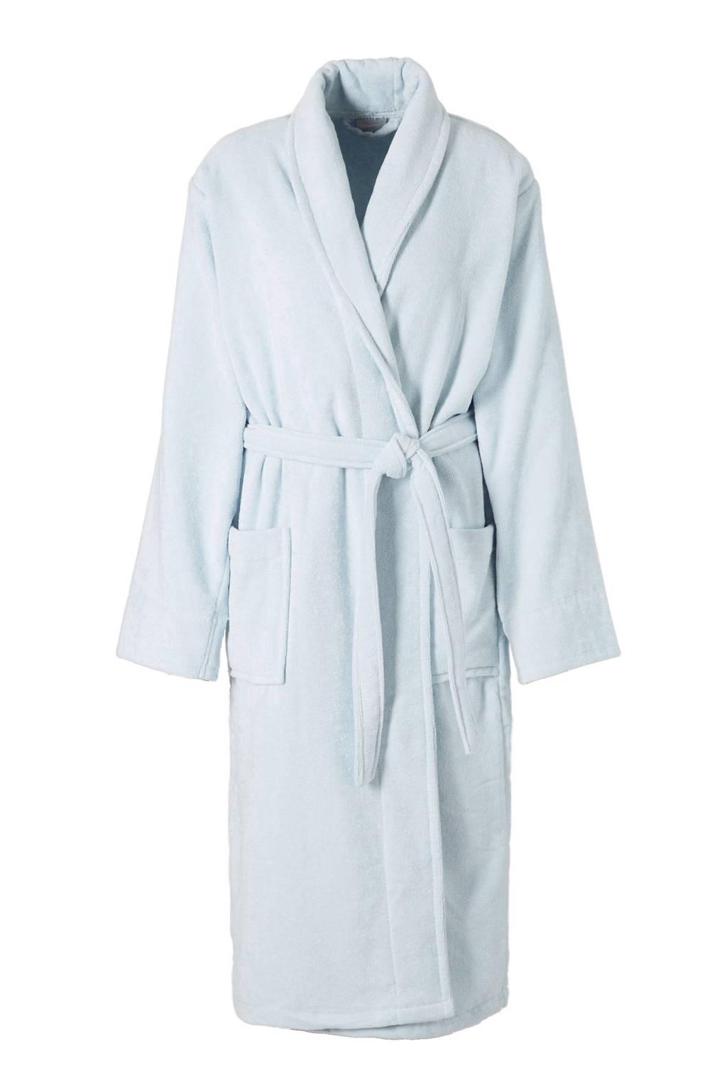 Seahorse badstof badjas lichtblauw, Lichtblauw