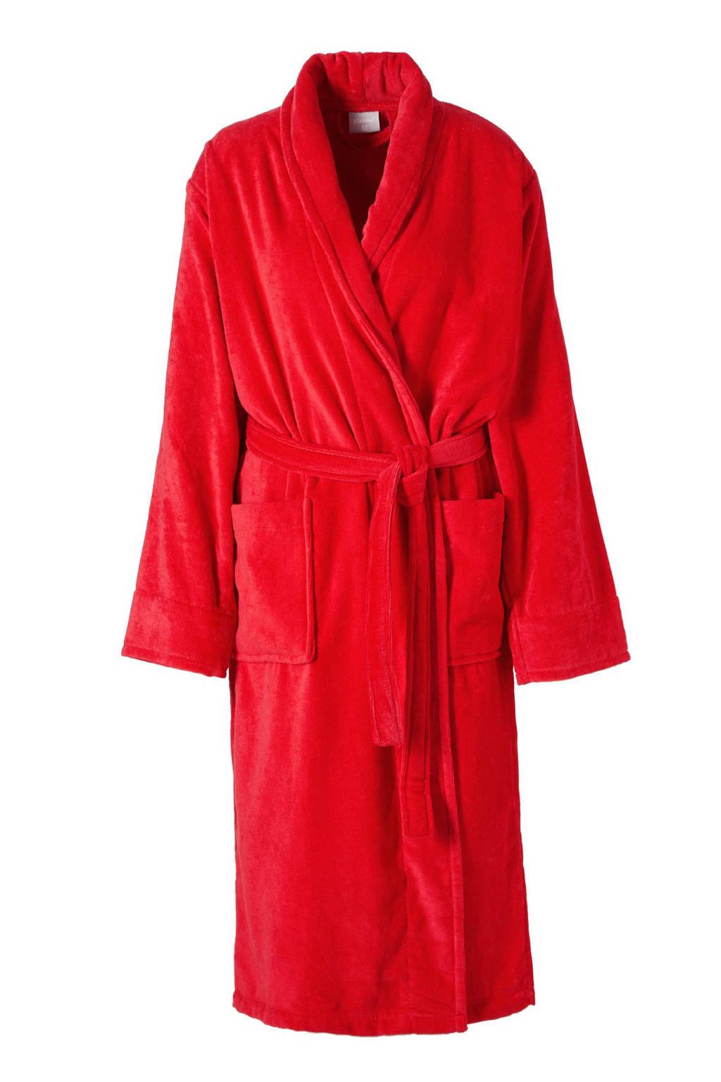 Seahorse badstof badjas Pure rood, Rood