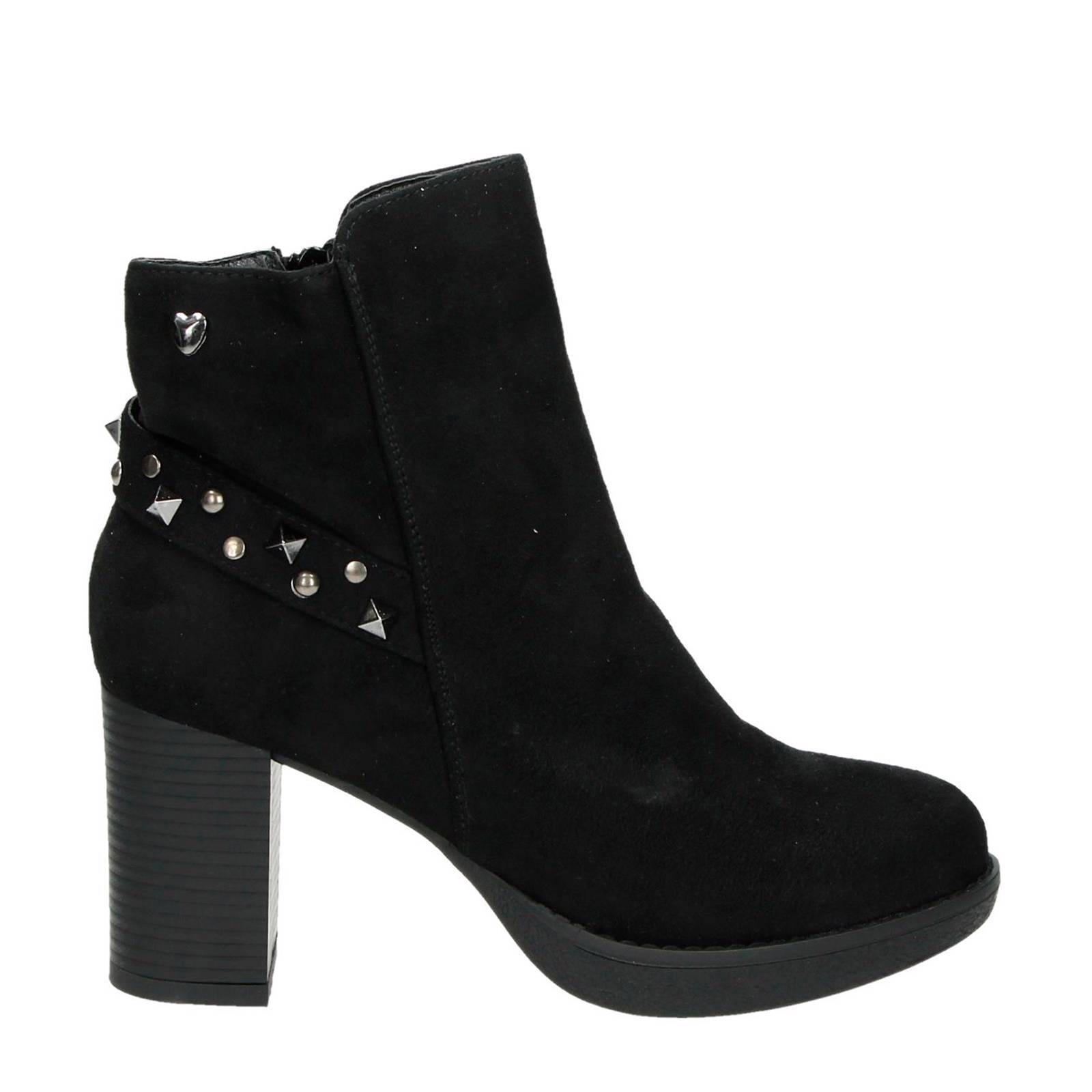 Fabs dames enkellaarsjes plat Zwart online kopen