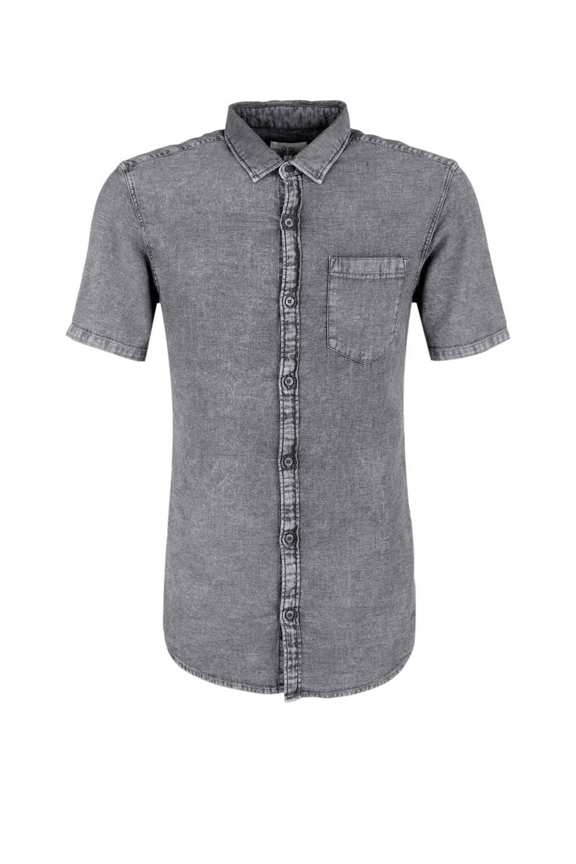 Grijs Overhemd Heren.Q S Designed By Slim Fit Overhemd Heren Wehkamp