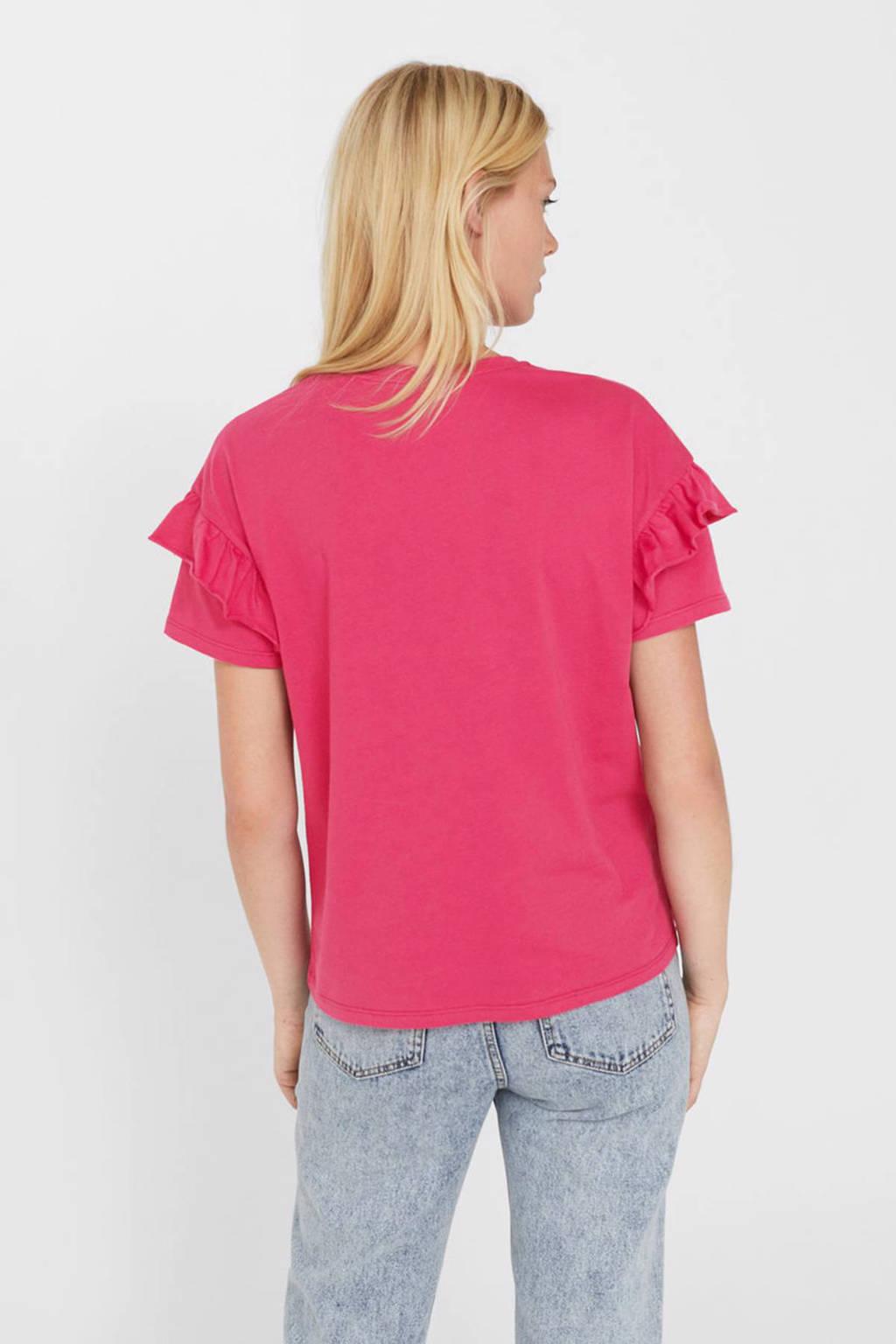 Mango T-shirt, Fuchsia