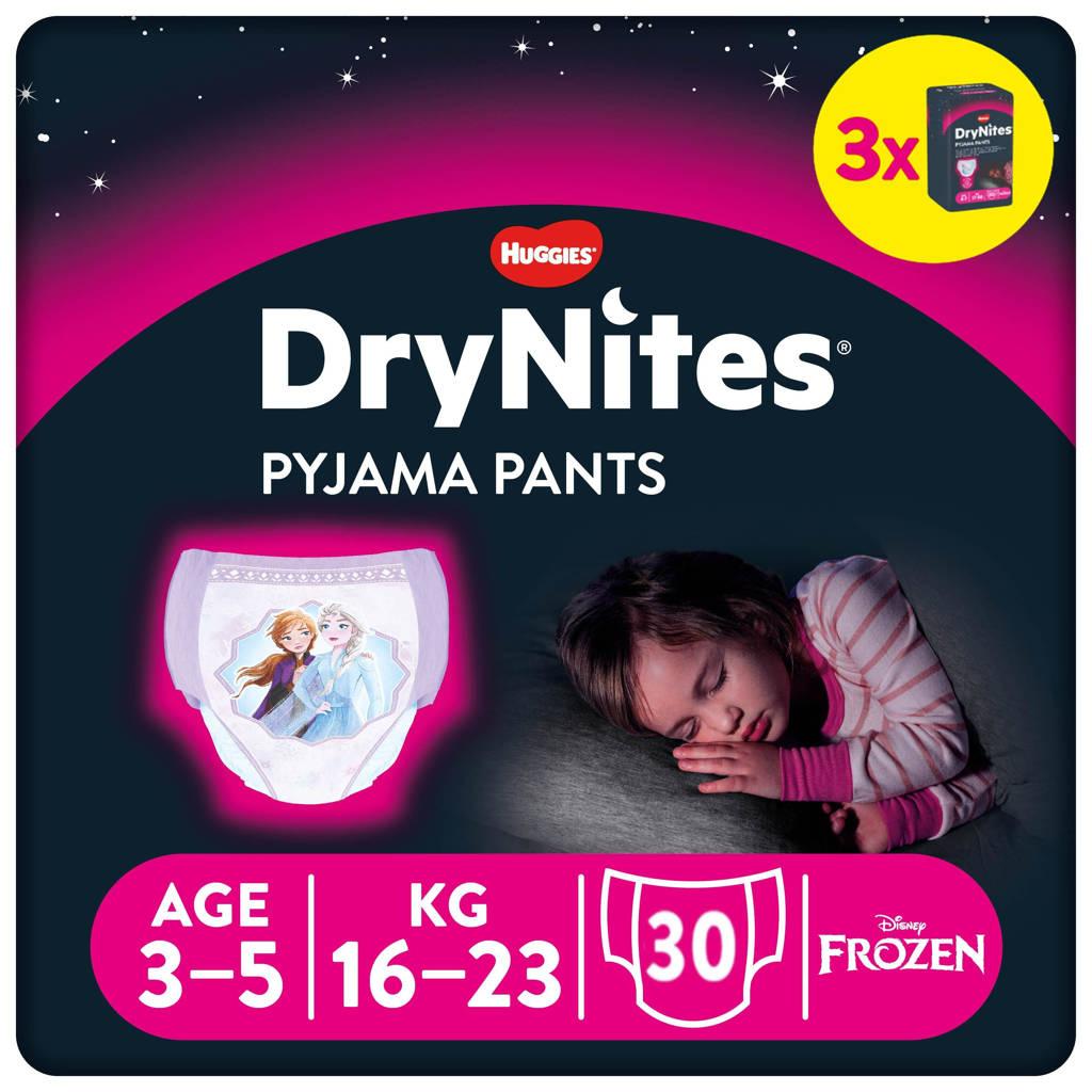 Huggies DryNites Pyjama Pants Girl 3-5 Years (16-23kg) 3 pakken, S: 3-5 jaar