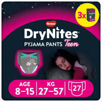 Huggies DryNites Pyjama Pants Girl 8-15 Years (27-57kgs) 3 pakken, L: 8-15 jaar