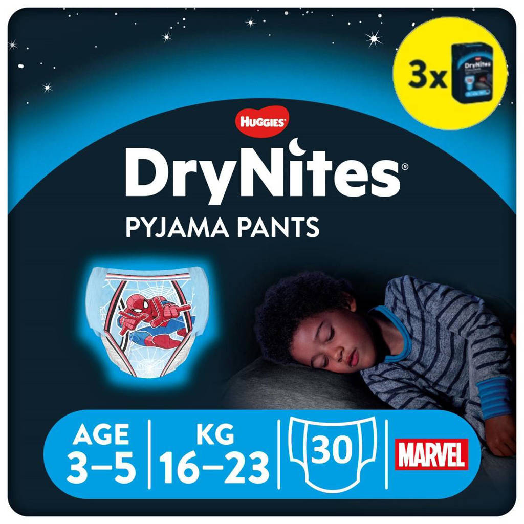 Huggies DryNites Pyjama Pants Boy 3-5 Years (16-23kg) 3 pakken, S: 3-5 jaar