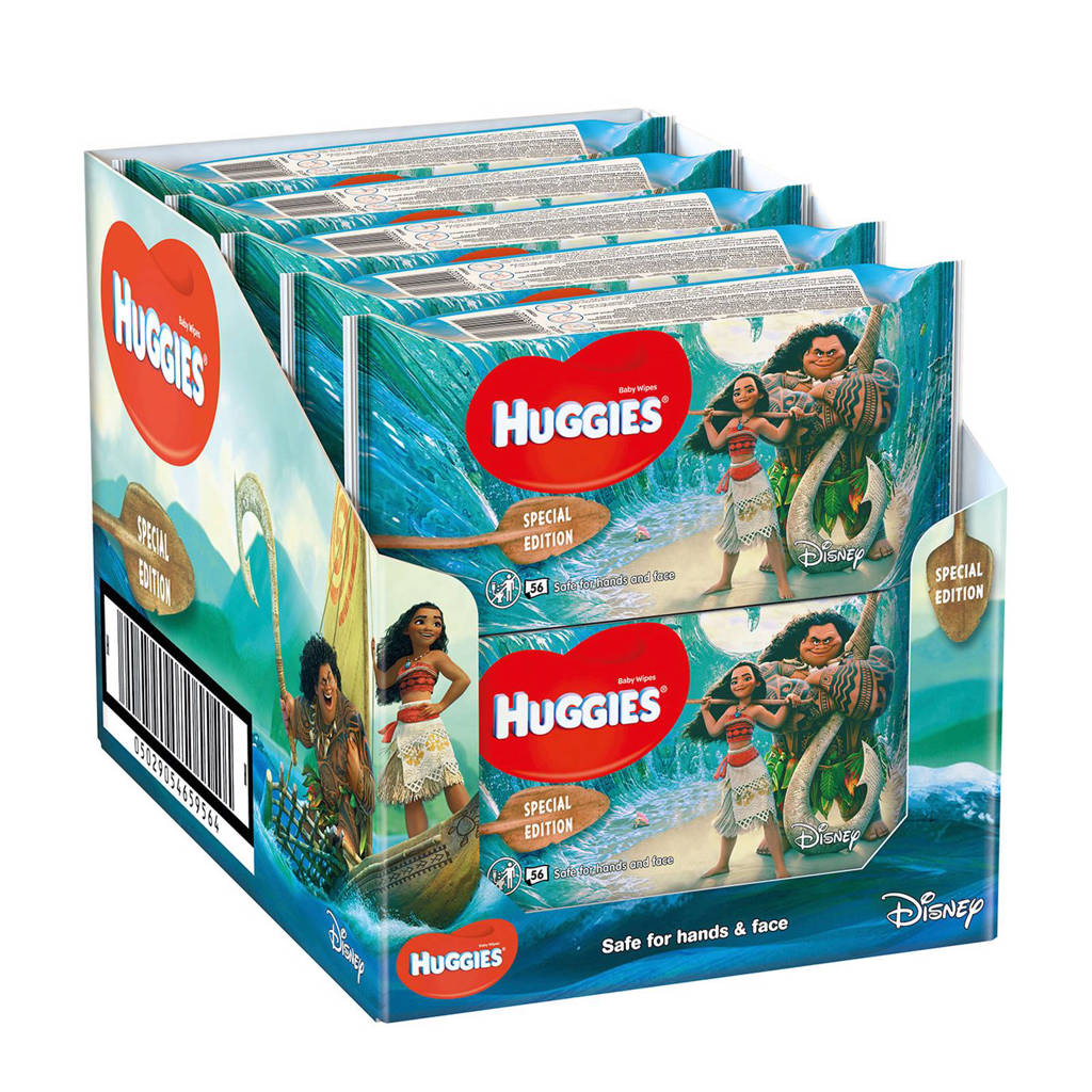 Huggies Vaiana Natural Care babydoekjes - voordeelverpakking - 10x56 doekjes