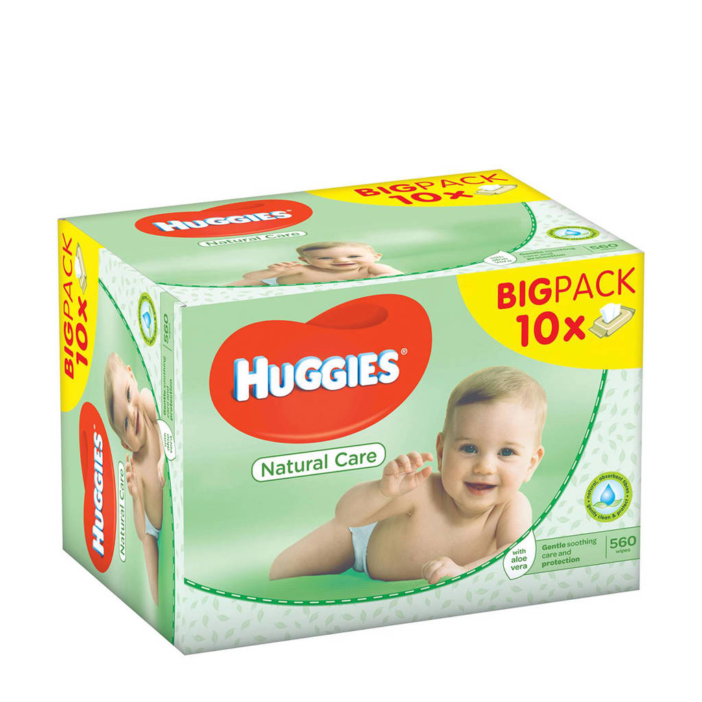 Huggies Natural Care babydoekjes - voordeelverpakking - 10x56 doekjes