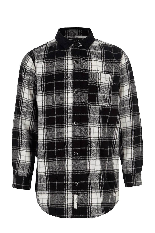 River Island geruit overhemd, Zwart/wit