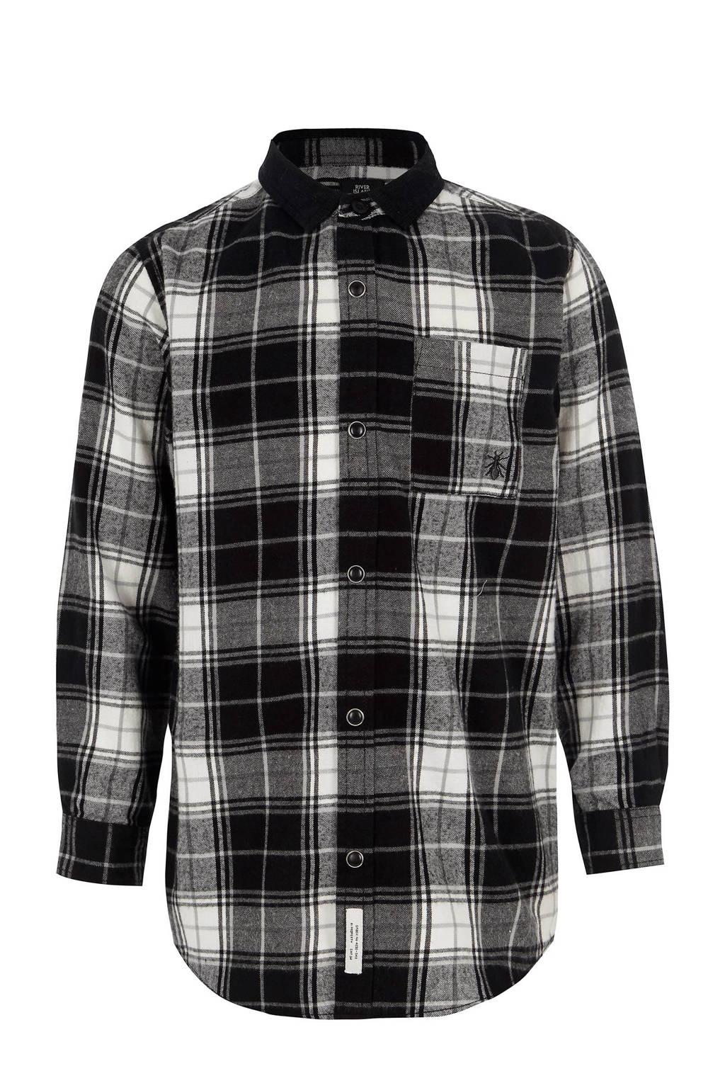 Zwart Wit Geruit Overhemd.River Island Geruit Overhemd Wehkamp