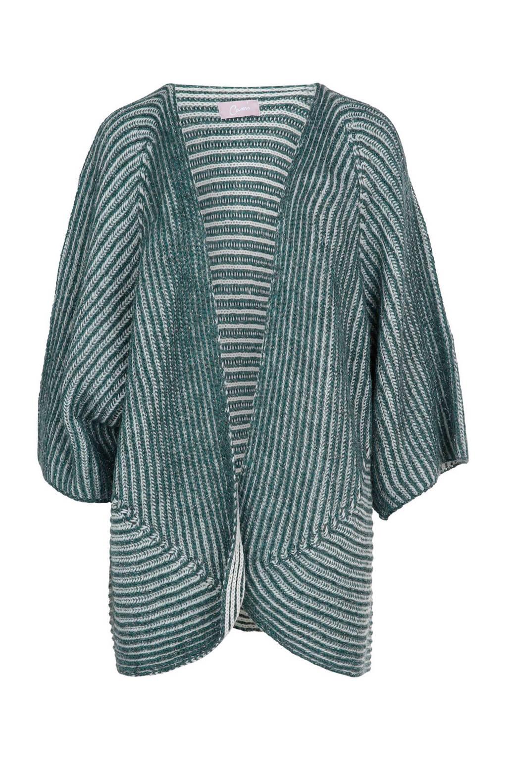 Cassis vest met wol, Groen