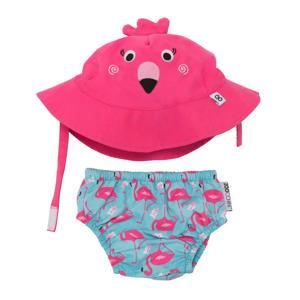 Franny the flamingo zwemluier + zonnehoedje maat S