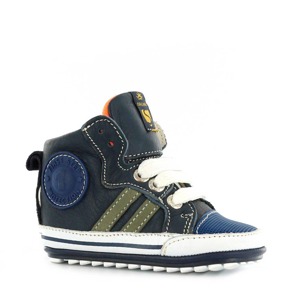Shoesme leren babyschoenen, Blauw