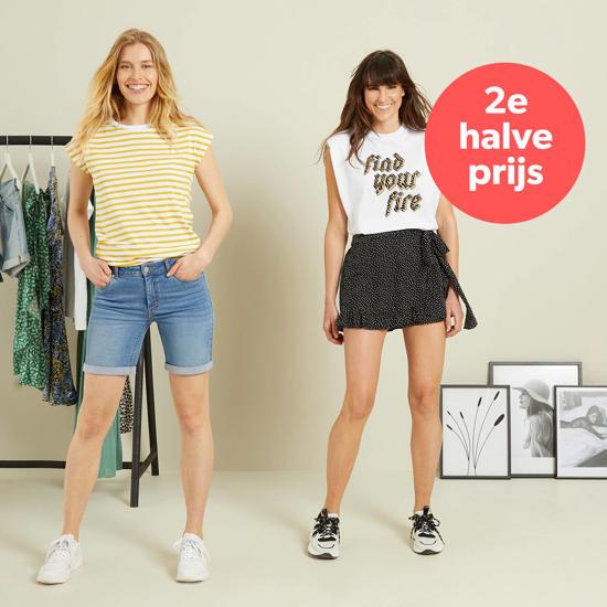 2e halve prijs op heel veel T-shirts & tops