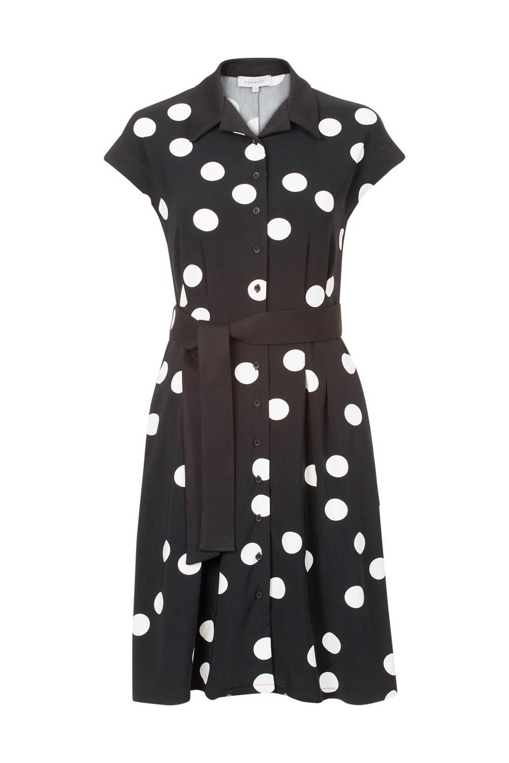 d1707f9ac82292 Promiss jurk met stippen dessin