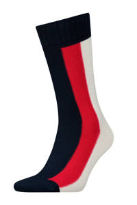 Tommy Hilfiger Iconic Global sokken, Donkerblauw/wit/rood