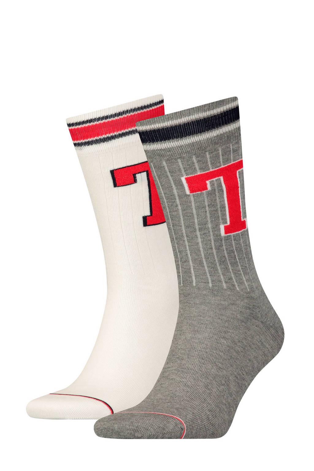 Tommy Hilfiger sokken (2 paar), Grijs/wit/rood/donkerblauw