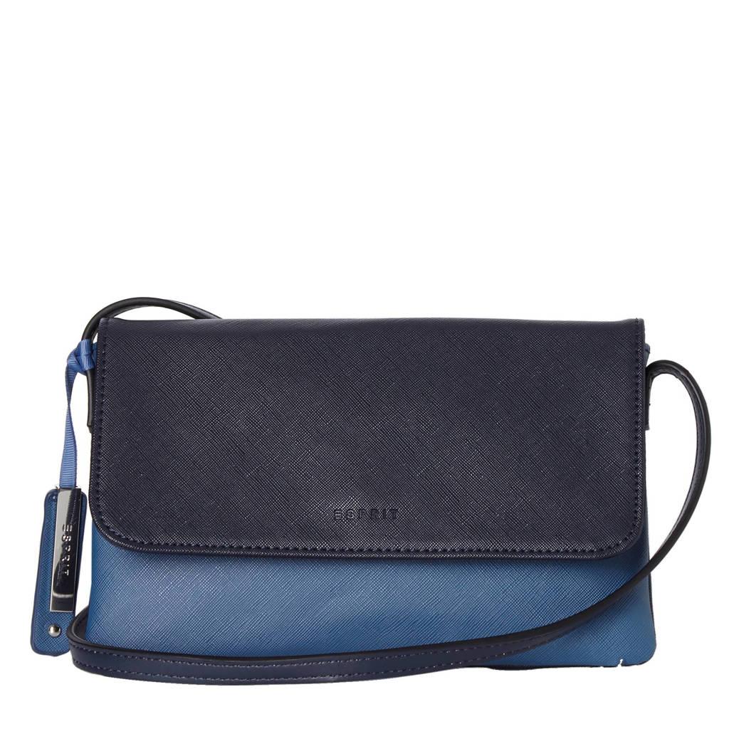ESPRIT  Farah Small schoudertas, Donkerblauw/lichtblauw