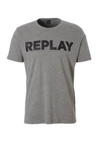REPLAY T-shirt, Grijs/zwart
