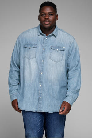 regular fit overhemd blue denim