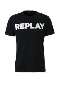 REPLAY T-shirt, Zwart/wit