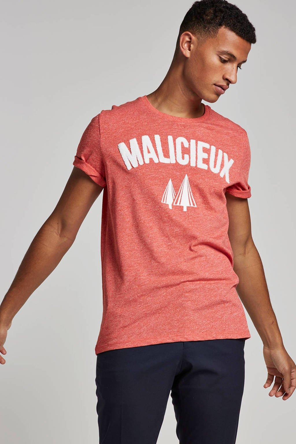 Jack & Jones Originals T-shirt, Rood/wit