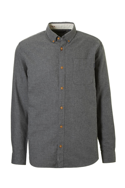 Donkergrijs Overhemd.Jack Jones Premium Colombo Slim Fit Overhemd Wehkamp