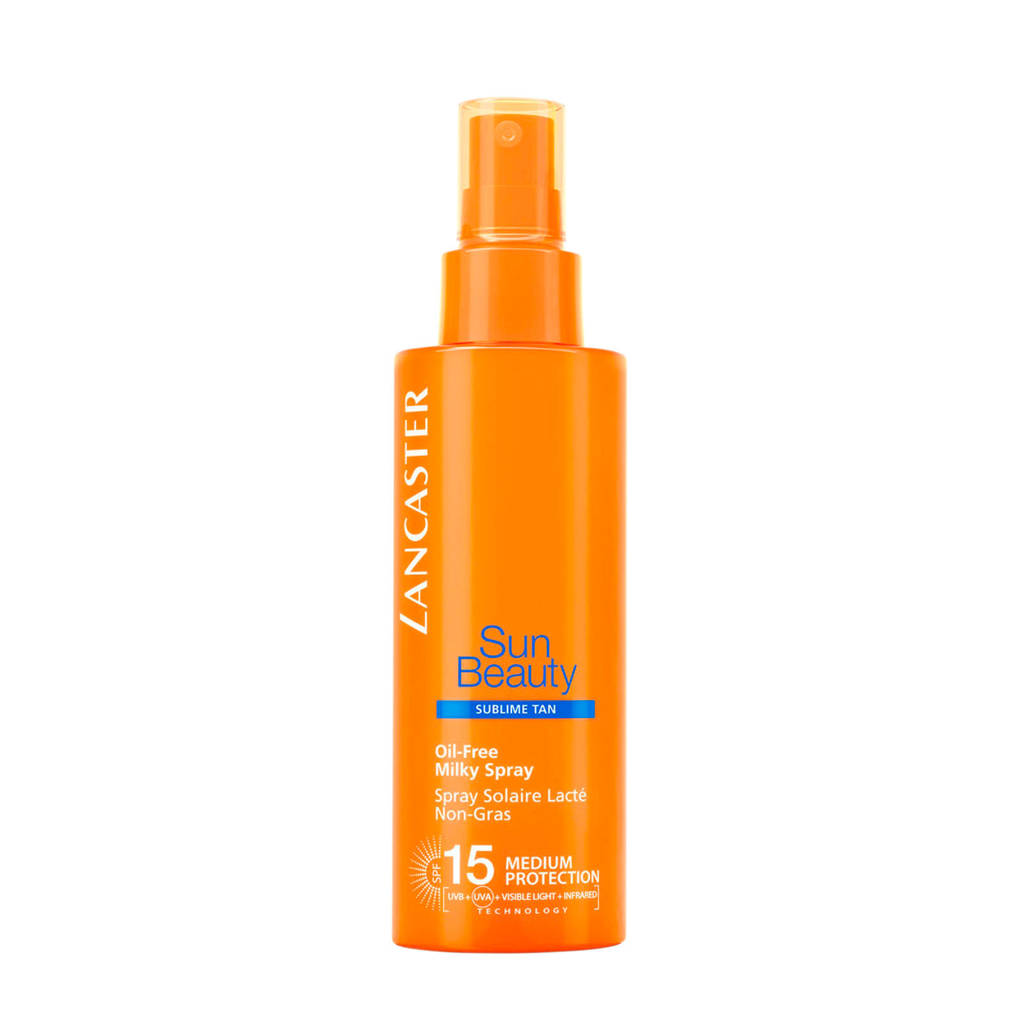 Lancaster Sun Beauty Body Oil-Free Milky Spray - SPF15, Zonnefactor SPF 15