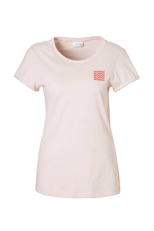 VERO MODA International Women's Day T-shirt , Roze