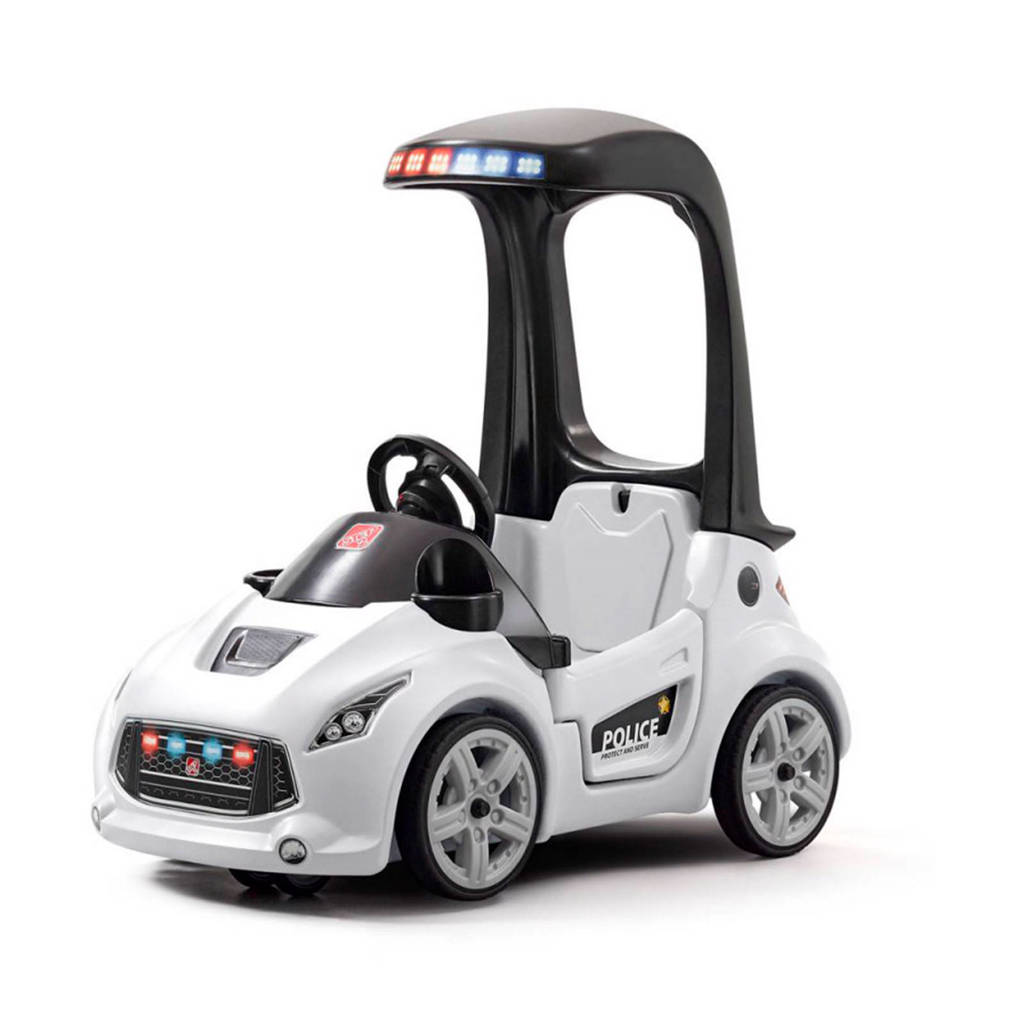 Step2  Turbo Coupe politie loopauto, Wit