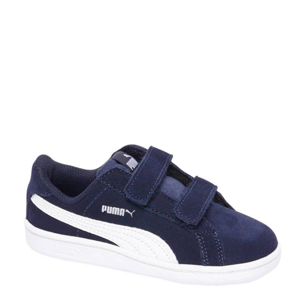Puma  Smash FUN SD suède sneakers, Donkerblauw/wit