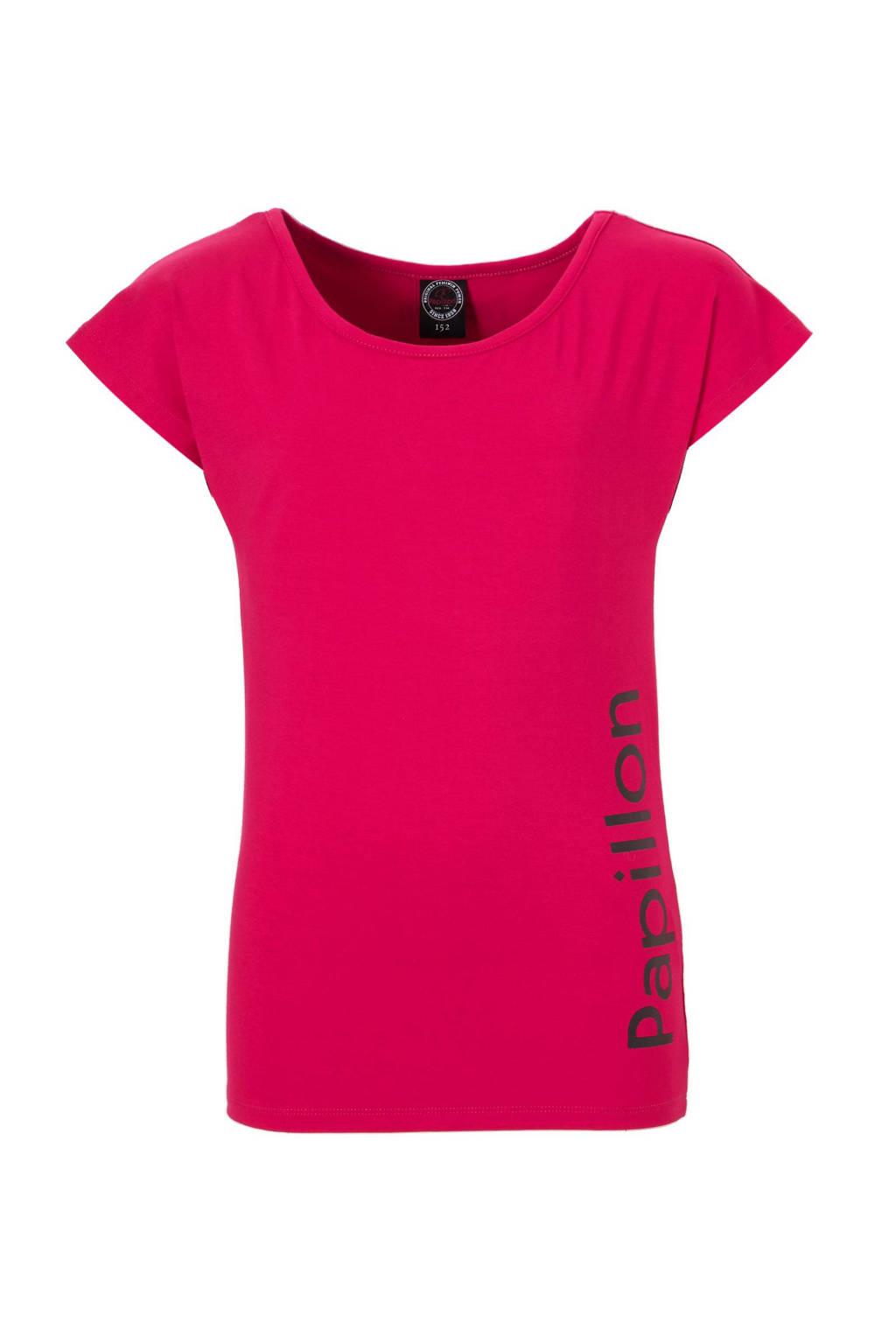 Papillon sport T-shirt, Fuchsia