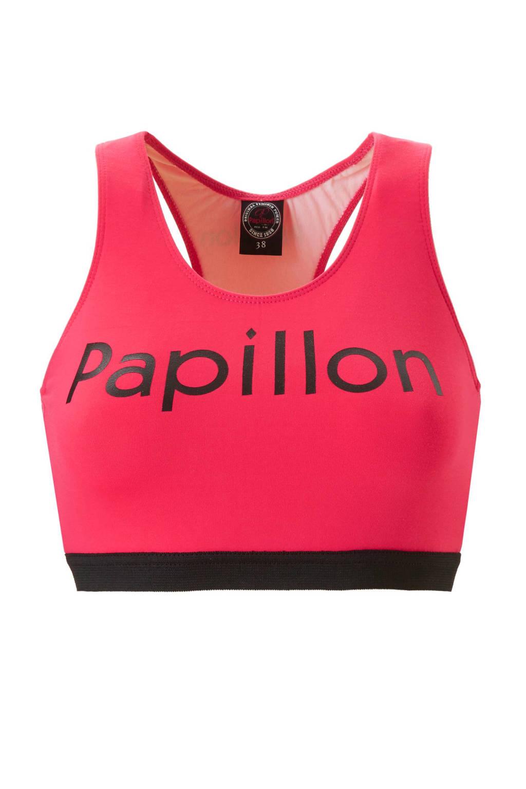 Papillon Level 1 sportbh donkerroze, Donkerroze/zwart