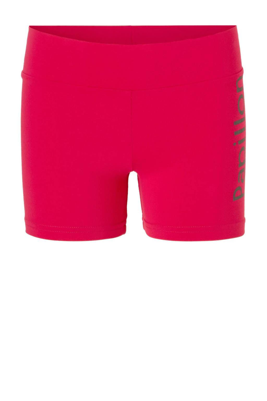 Papillon sportshort, Roze/zwart
