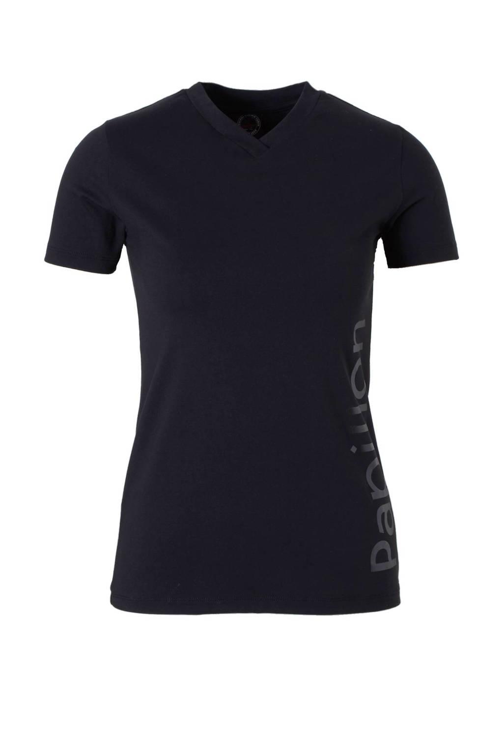 Papillon sport T-shirt, Zwart