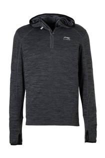 Li-Ning   hardloopsweater antraciet (heren)