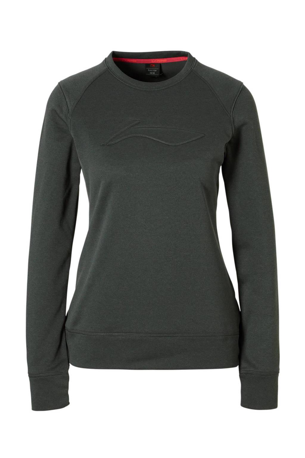 Li-Ning thermo sportsweater grijs, Grijs