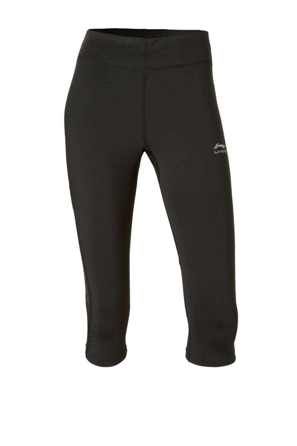 Li-Ning sportcapri zwart, Zwart