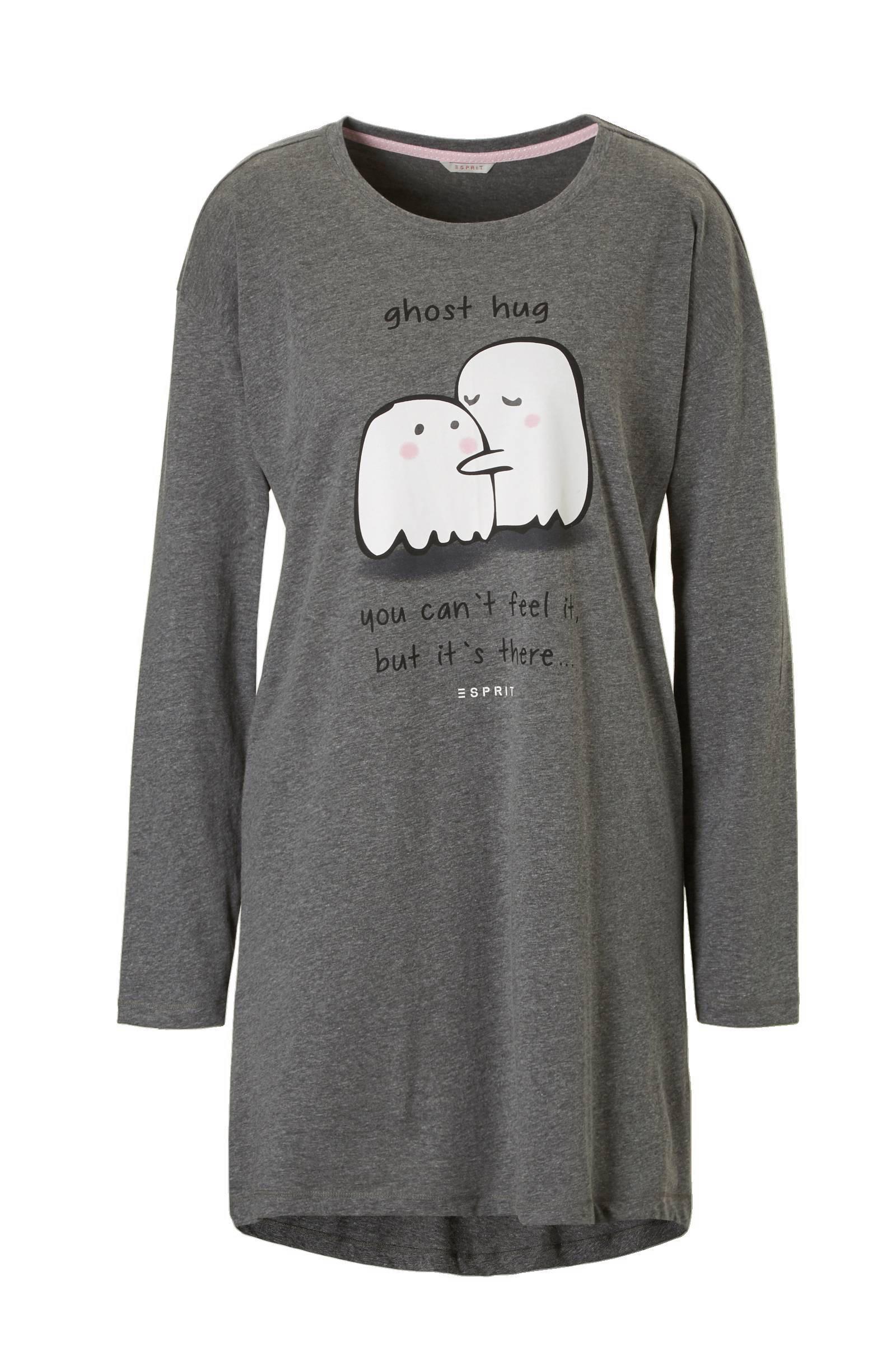 ESPRIT Women Bodywear nachthemd in grijs mêlee  (dames)